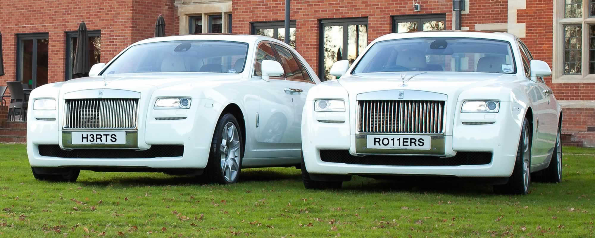 white Rolls Royce Ghost Hire