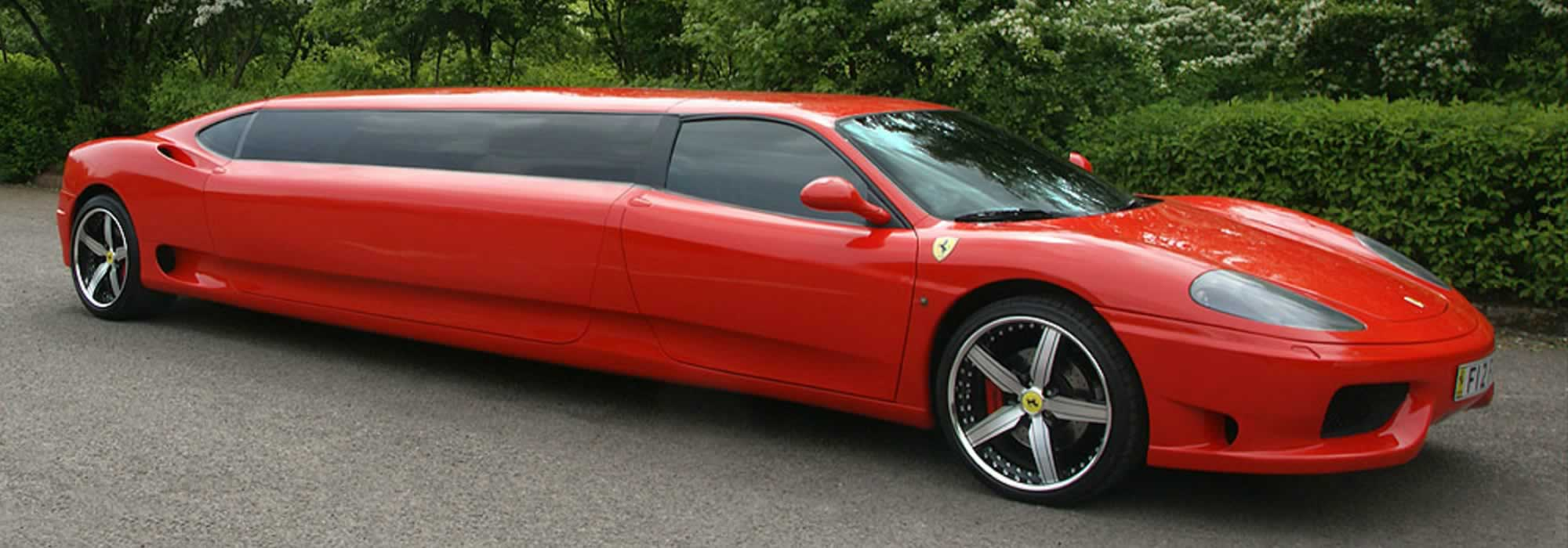 red ferrari limo hire